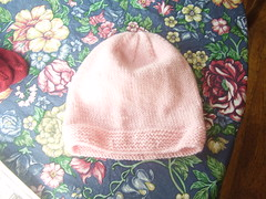 finished pink hat