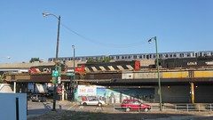 CTA and Canadian National two train photographic meet. Chicago Illinois. September 2008.