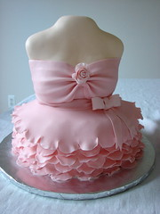 Tutu on Dress Form Cake (alana_hodgson) Tags: ballet rose cake ballerina dress bow tutu dressform frill sweettreats