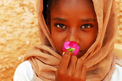D20_0023 - Sudan (anthonyasael) Tags: africa flower war child veil muslim islam sudan civilwar arab conflict afrika khartoum sharia chador islamiccountry centralafrica sharialaw asael arabcountry anthonyasael