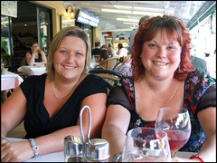Dionne and Me (Amy Lloyd) Tags: friends holiday me myself restaurant amy dionne menorca galdana iactuallylookbrownyay