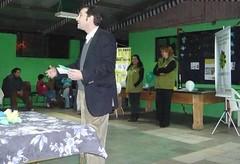 Mauricio Dorfman inaugurando la Sucursal Macul del Banco del Tiempo