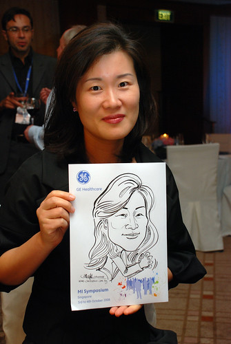 Caricature live sketching for GE Healthcare MI Symposium 4