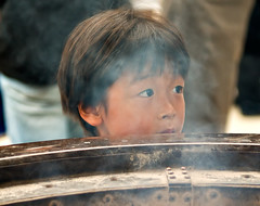 The Zen boy (dani.Co) Tags: trip boy childhood japan kids children temple tokyo kid nikon asia buddha smoke buddhism niños explore zen potrait budda infancia niño buddist incense japón d300 chlid explored abigfave danico visiongroup