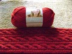 Red Scarf Project: Irish Hiking Scarf