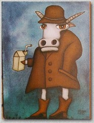 Cow in Leather (Jim Rowe) Tags: original ontario canada abstract art modern illustration painting visions cow crazy punk artist acrylic raw folkart outsiderart different arte folk outsider contemporary gothic paintings emo surreal canadian pop canvas popart fantasy selftaught expressionism eccentric doodles lakefield trippy psychedelic naive bliss blunt trance gotmilk whimsical lowbrow brut kawarthas hallucinations offthewall psychedelicart kawartha outsiderartist outsiderfolkart jimrowe offthewallillustration cowinleather