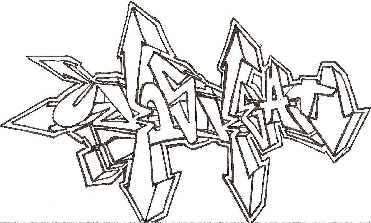 Letras De Graffiti Para Colorear