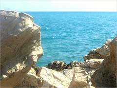 La Mer: a Meditation (Kurlylox1) Tags: blue sea rocks mediterranean waves tunisia sidibousaid watching restful aquamarine peaceful calm serene soothing mesmerizing mywinners