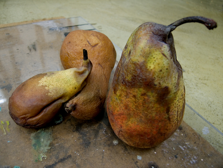 rotting pears
