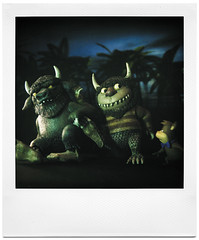 I Must Be in the Wrong Forest (tubes.) Tags: bear lighting trees film animals monster night forest studio polaroid sx70 book woods cartoon story 600 yogi spoof wherethewildthingsare booboo crossover mauricesendak