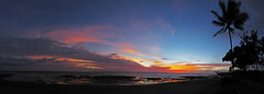 Bali - Perancak Beach Pano of Sunset (maticulous) Tags: sunset bali panorama beach canon indonesia pano powershot g9 panosaurus perancak