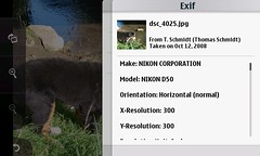 Exif-informations of a photo