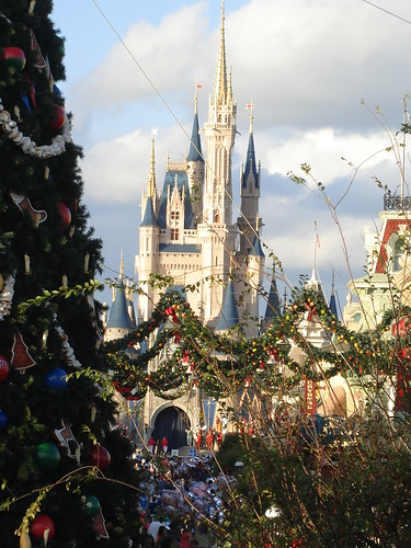 Cinderella Castle at Christmastime