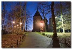Castell Coch (Roger.C) Tags: blue light sky castle wales night canon dark shadows cardiff sigma hillside wfc castell coch