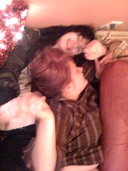 Merry Christmas (jeanette_klimczak) Tags: christmas xmas eve woman chicago tree beer night drunk fun living women apartment floor gabby drink wrestling room couch roomate
