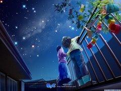 Niños mirando las estrellas