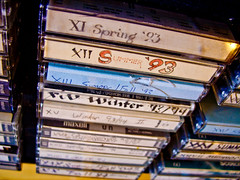 Macro of High School and College tape mixes