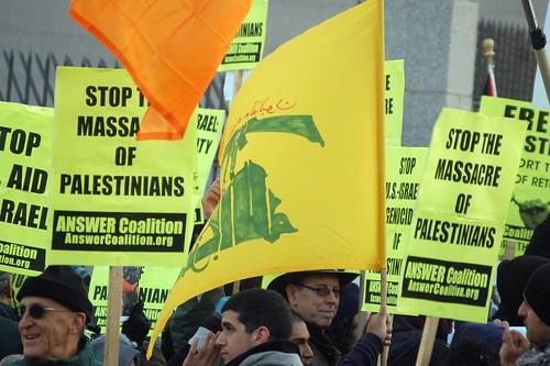 Proteste vor der israelischen Botschaft in Washington DC
