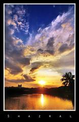 Sunset at Shah Alam Lake 3 (SHAZRAL) Tags: sunset lake canon landscape eos searchthebest malaysia sensational soe selangor shahalam tasik potofgold tokina1224mmf4 blueribbonwinner naturepeople fineartphotos 450d mywinners platinumphoto flickraward diamondclassphotographer flickrdiamond ysplix theunforgettablepictures overtheexcellence theperfectphotographer goldstaraward shazral