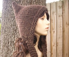 Pixie Hat in Fudge
