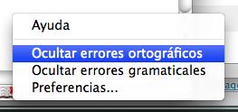 Captura de como desactivar los errores ortográficos y gramaticales en Word