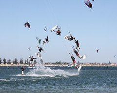 Kite Jam 2009 Jump Sequence (Craig Wilson Photography) Tags: ocean blue sky house kite west beach water sport club photoshop canon fun jump surf action yacht board extreme steps australia competition event step western sail wa trick jam 2009 xtreme rockingham safetybay compete cs3 sportsmode freephotos 450d kitejam kitejam2009 sailsequence