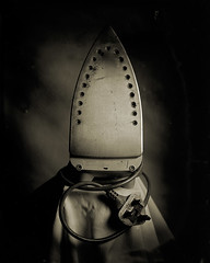 housework: the iron (heyoka) Tags: iron housework ambrotype wetplate 4x5 wetplatecollodion