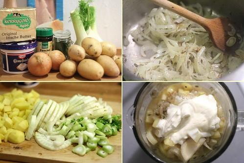 Préparation du velouté de fenouil