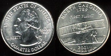km#319 North Carolina State Quarter