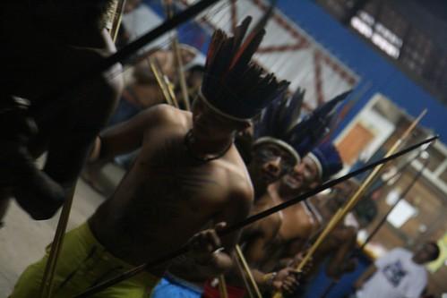 Dancers at a cultural presentation preceding the forum