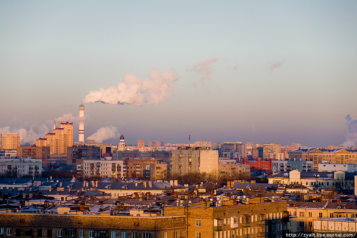 Moscow Roof Sunset