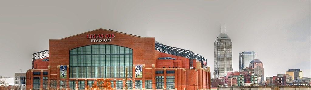 Indy Skyline Panorama - Lucas Oil Stadium 3252407872_d1a914b164_b