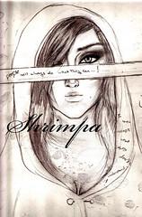 won't understand (Shrimpa) Tags: woman art beauty sketch words sad artistic drawing