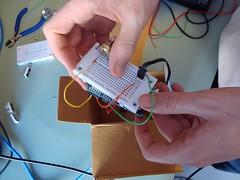 Breadboard/Arduino sandwich... yummy!