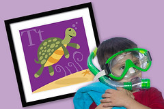 T is for Turtle (abc123fun) Tags: family boy baby girl animal wall kids illustration mom graphic turtle den mother teen hanging alphabet tween playroom art nusery wall decor