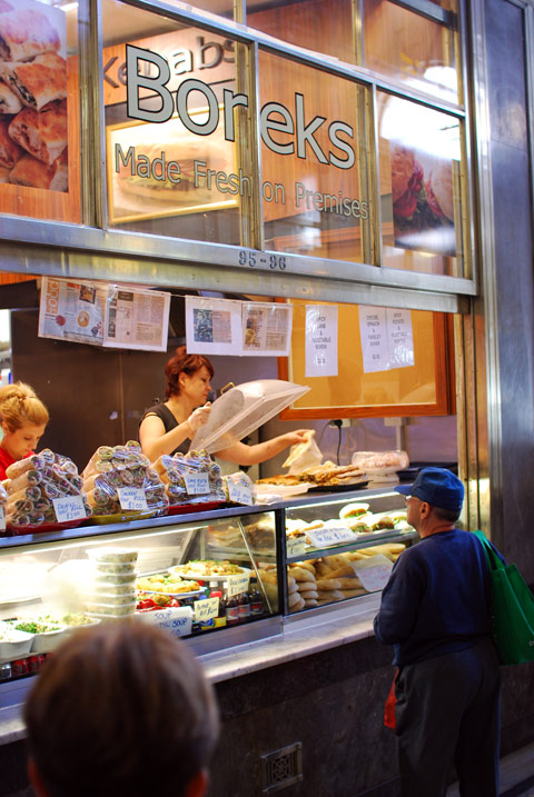 Borek stall at Queen Victoria Market