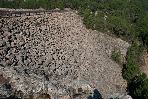 Staudamm - trockene Seite