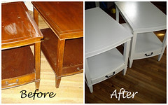side table makeover (niftythriftygirl) Tags: furniture thrift decorating redo trashtotreasure