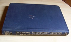 Logarithms Trigonometry Statistics College Mathematics (RayvenVintage) Tags: college vintage paper book first ephemera mathematics educational statistics 1942 edition reference hardcover trigonometry dated logarithms