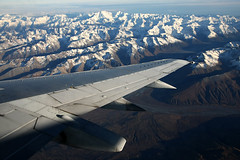 Southern Alps, New Zealand (Nick Young Photos) Tags: newzealand mountain snow mountains alps window island flying mt view air south wing cook southern nz boeing 737 733 aoraki aorangi 737300