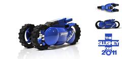 (The Slushey One) Tags: blue car one lego wheels fast slush prototype slushy slushee 2011 hubless slusey