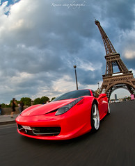 F458 Italia.. (Romain sauze...come back ..) Tags: paris france photoshop photography photo nikon italia tour picture ferrari bamboo software nik wacom romain hdr couleur italie lightroom plugg photographe d300 sauze lr3 graphique effeil tablette cs5 f458 oloneo