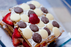 Icebox  Cake (Elsbro) Tags: dessert strawberries grahamcrackers iceboxcake chocolatewafers coconutwhippedcream