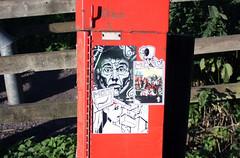 Sticker-Set-11 (Lord Leigh) Tags: street art mono sticker stuck path walk leicester bin kaption