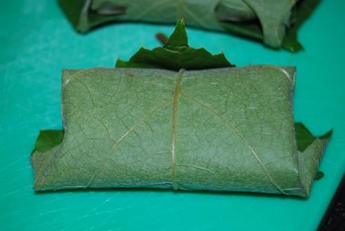geitenkaasje in druivenblad