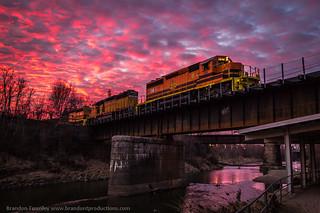 Ohio Central NPT in Newark, Ohio at Sunset