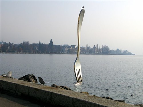 fork in Lake Geneva