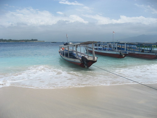 Beach and boats of Gili Trawangan