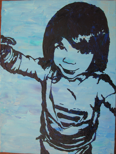 Stencil Portrait - Liz's daughter