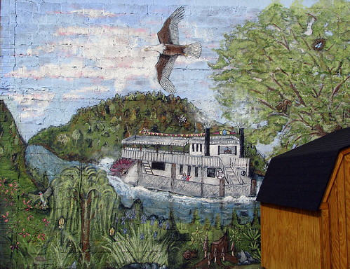 Riverboat Mural - Celina, TN
